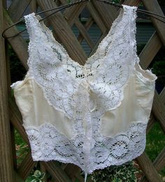 Gorgeous Edwardian Ladies Silk & Lace Camisole Corset Cover DeBevoise Brassiere!