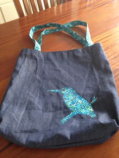 Kingfisher lined tote bag for mum