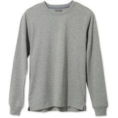 L.L.Bean Signature Signature Textured Knit Tee, Crewneck Long-Sleeve ($54) ❤ liked on Polyvore featuring men's fashion, men's clothing, men's shirts, men's t-shirts, tops, shirts, sweaters, men, jumpers and mens slim shirts