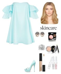 """""""Summer Skin"""" by kotnourka ❤ liked on Polyvore featuring beauty, Claudie Pierlot, Casadei, Chanel, Natura Bissé, NARS Cosmetics, GlamGlow and SkinCare"""