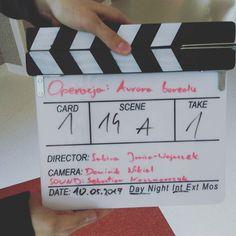 Klaps do filmu Aurora borealis #klaps #auroraborealis #dziśpremiera