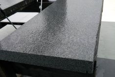 Black Granite Flamed Coping and Steps - Rock Unique Ltd