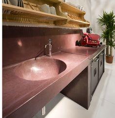 Cocciopesto - La maiolica progettazione e realizzazioni superfici artistiche in cocciopesto legno e cotto. | La Maiolica