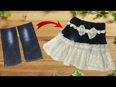 Diy Designer Skirt making from jeans // best idea of jeans // by simple cutting - YouTube