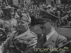 Dictator - Dictator on the left is Mussolini. He was a dictator in Italy. He formed an alliance with Hitler, which is a dictator in Germany. World History, World War Ii, Ww2 History, History Online, History Memes, Indira Ghandi, The Third Reich, Nagasaki, Axis Powers