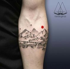 Various cool tattoo designs that are you probably never though of before. We will be sharing you a rich and vibrant gallery of cool tattoo designs that will surely inspire you to have one inked on your skin! Dot Tattoos, Black Ink Tattoos, Trendy Tattoos, Body Art Tattoos, Small Tattoos, Tattoos For Women, Tattoos For Guys, Tatoos, Black Red Tattoo
