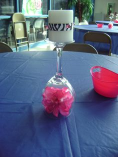 Centerpiece I did for my Daughters 16th Birthday party!