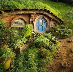 hobbiton. A hobbit garden