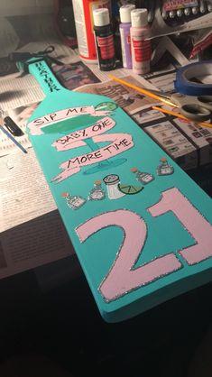 21st paddle #21paddle #sorority #tequila #21 #birthday #patron