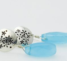 "Flowers of the Field Earrings by Tracy Hibsman ""And if God cares so wonderfully for flowers that are here today and gone tomorrow, won't he more surely care for you?""  -- Matthew 6:30 NLT"