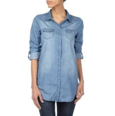 Damen ONLY® Jeansbluse aus reiner Baumwolle in Jeans: Damen Jeansbluse von Only ✔ Reine Baumwolle ✔ Lockere Passform ✔ Jetzt bei Peek & Cloppenburg!