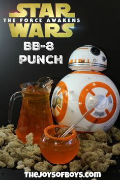 Are you hosting a Star Wars party?  This Star Wars-Inspired BB-8 Punch is a great recipe that even the youngest Star Wars fans can enjoy.