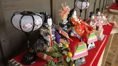Dolls displayed at the Girls's Festival on March 3