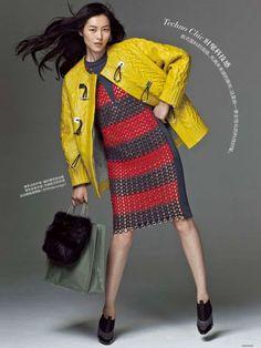 Liu Wen in Balenciaga Liu Wen, Balenciaga, Sweaters, Dresses, Fashion, Vestidos, Moda, Gowns, Sweater