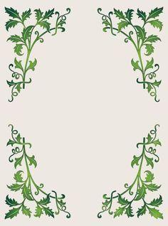 Leaf Design Frame Lovely More Border Pattern Printables Free