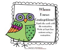 Pitner's Potpourri: Whoooo Knows Contractions?
