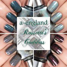 a-england Rossetti's Goddess swatches via @alllacqueredup