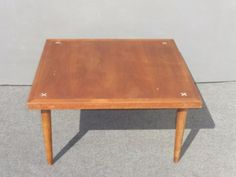 Vintage Danish Mid Century Modern Square Peg Leg COFFEE TABLE X Corners in Antiques, Furniture, Tables, Post-1950 | eBay