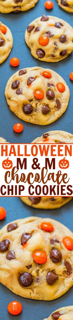 Chocolate Chip M Halloween Cookie Recipes, Halloween Cookies, Halloween Desserts, Halloween Foods, Halloween Ideas, Holiday Desserts, Holiday Baking, Halloween Stuff, Halloween Crafts