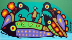 Norval Morrisseau Indigenous Art, Native Art, First Nations, Art Therapy, Nativity, Art For Kids, Folk, Christian, Pattern