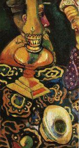 nature morte avec lampe - (Marc Chagall)