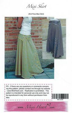 Mixi Skirt Pattern Back