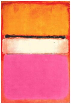 "ArtG087. Mark Rothko ""White Center (yellow pink and lavender on rose)"" / Oil on canvas / 55,5 x 81 inches / 1950"