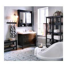 HEMNES Meuble à miroir 2 portes - teinture noir-brun, 103x16x98 cm - IKEA