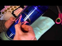 How to make a Tumbler Cup with vinyl and how to tie bow on straw. Measurements included. - YouTube