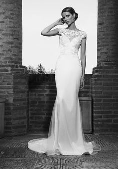 2016 mermaid wedding dress with illusion neckline and hand applied lace embroidery. See more of Silence Addicted at our website www.biensavvy.eu or book an appointment for a showroom fitting at office@biensavvy.eu