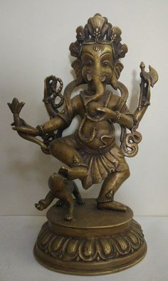 Indian Bronze Dancing Figure Diety 17 1/2 Inches To Have A Long Historical Standing Asian Antiques Other Asian Antiques