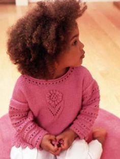 Lacy Sweater For Girls Knitting Pattern free