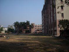 Students hostel at far end. NRSMC, Calcutta.