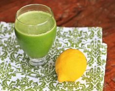 Natalia's Green Lemonade...I recently discovered that I like the taste of Kale...this recipe has Kale, Spinach, Apples, Lemons, and Ginger