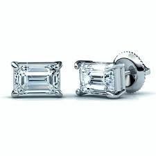 diamond baguette earing