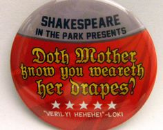 Avengers  Doth Mother Know You Weareth Her Drapes 2 by PeppersPins, $2.75