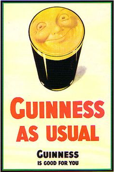 Try our Guinness As Usual sign to give any of your living spaces life and character. the Guinness sign features a vintage smiling Guinness ad on the front . From the Guinness Webstore Vintage Advertising Posters, Old Advertisements, Vintage Ads, Vintage Posters, Advertising Campaign, Guinness Advert, Sous Bock, Guinness Draught, Beer Poster