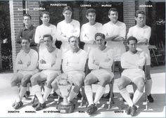 1956- Equipo que ganó la primera copa de Europa. Real Madrid 4 - Stade de Reims 3.