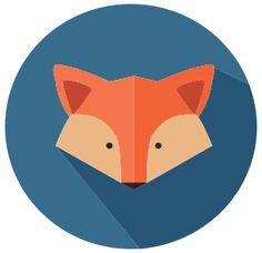Reproduction d'un renard en Flat Design