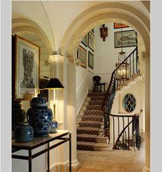 charming entry in Georgian townhome in Bath, England ~ John McCall design