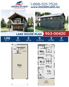 Plan 963-00420 delivers a great vacation home. This Lake home design is complete with 1,318 sq. ft., 2 bedrooms, 2 bathrooms, a kitchen island, an open floor plan, and a home office. #lakehouse #openfloorplan #vacationhome #architecture #houseplans #housedesign #homedesign #homedesigns #architecturalplans #newconstruction #floorplans #dreamhome #abhouseplans #besthouseplans #newhome #newhouse #homesweethome #buildingahome #buildahome #residentialplans #residentialhome