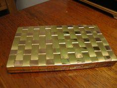 Evan's Cigarette Case in Gold Tone Metal by CrimsonVintique, $40.00
