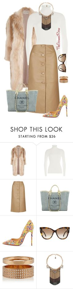 """""""On my way"""" by tiascloset ❤ liked on Polyvore featuring River Island, Michael Kors, Topshop, Chanel, Christian Louboutin, Tom Ford, Repossi and MANGO"""