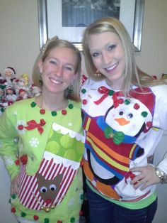 Home made Christmas sweaters from 2012!