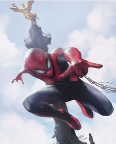 Spider-Man!! Art by @edgar_gmz #SpiderMan #Homecoming #Marvel #MarvelComics #Comics #ConceptArt #Art #Artist #Superhero