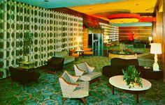 1950s Hotel Nemerson Lobby The Nemerson Hotel, South Fallsburg, NY
