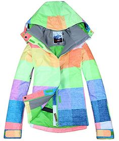 fcd1ef9a0b APTRO Womens High Windproof Technology Colorfull Printed Ski Jacket Style 6  Size M  gt  gt