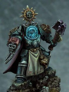 Space Marine Chaplain #spacemarine #spacemarines #warhammer40k #warhammer40000 #wh40k #40k #gamesworkshop #miniatures #minis #wellofeternity