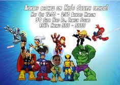 Super Hero Squad - The Avengers Birthday Invitation