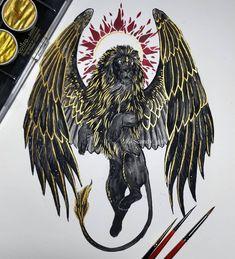 Tattoo Sketches, Tattoo Drawings, Cool Drawings, Body Art Tattoos, Art Sketches, Fantasy Animal, Fantasy Art, Hugin Munin Tattoo, Image Tatoo